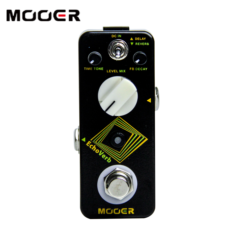 Mooer micro series pedal echoverb digital delay&reverb pedal guitar effect pedal new effect pedal mooer solo distortion pedal full metal shell true bypass