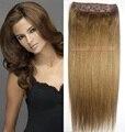 #12 Cabeça Completa 1 pcs conjunto cabeça cheia Brasileiro Virgem remy extensões de cabelo humano clipes em/sobre 26 cores disponíveis
