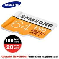 New Arrival 2017 SAMSUNG Micro SD Card 64GB Memory Card EVO 32GB Class10 TF Mini Sim