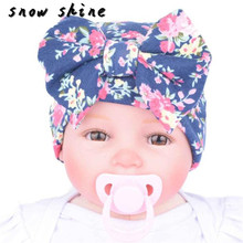 2017 new  Newborn Hospital Hat Newborn Baby Hats With Flower Bowknot Flower Hat  FREE SHIPPING