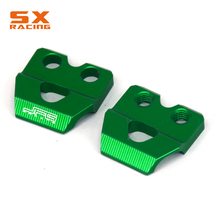 Motorcycle CNC Green Brake Line Clamp Hose Holder For KAWASAKI KX 65 80 85 100 125 250 KX250F KX450F KLX450R KLX125 D-Tracker125 cnc press brake machine punch clamp and die holder