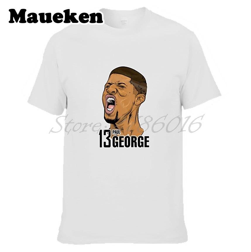 Для мужчин футболка #13 Пол Джордж pg-13 логотип Оклахома-Сити Футболки для девочек короткий рукав Футболка Для Мужчинs маринованные комиксов ...