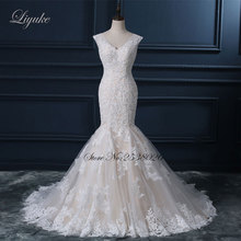 Liyuke Mermaid Wedding Dress Court Train Floor-Length