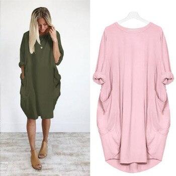 7be70f137 Otoño de manga larga Casual vestido suelto ropa de maternidad para mujeres embarazadas  Vestidos de mujer vestido de embarazo