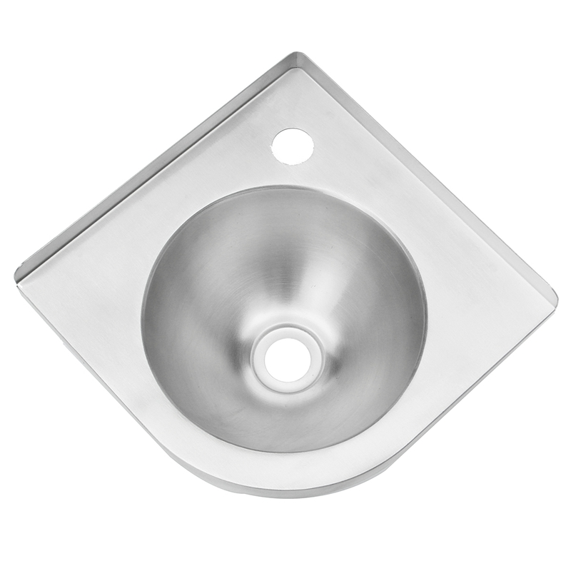 304 Stainless Steel Rv Caravan Ss Triangle Round Hand Wash Basin Corner Sink  For Yacht Basin
