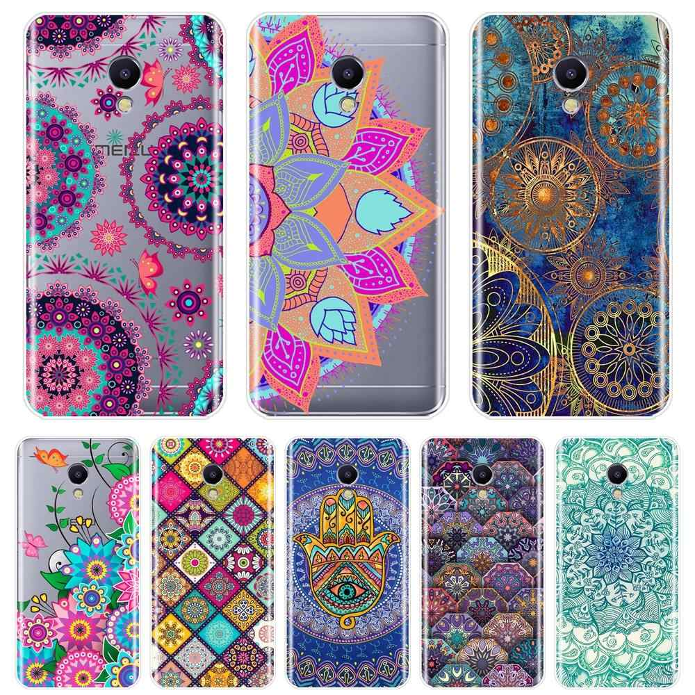 Back Cover For Meizu M6 M6S M6T M5 M5C M5S M3 M3S M2 Soft Silicone Mandala Flower Floral Phone Case For Meizu M2 M3 M5 M6 Note