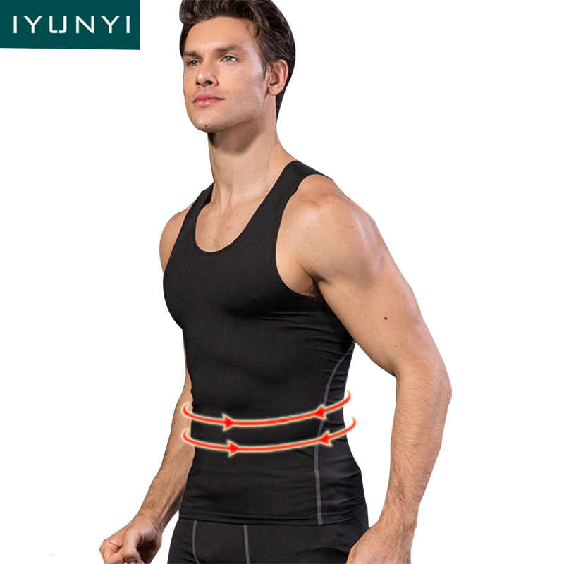 a0e802da41 IYUNYI Men Body Shaper Shapewear Slimming Vest Tummy Control Underwear Men  Posture Corrective Waist Girdle Shirt