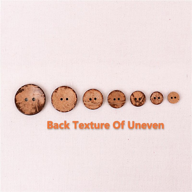 12 Mm Noix de Coco holzknöpfe Nature Handmade Bois Bouton Boutons Wooden Buttons Coconut
