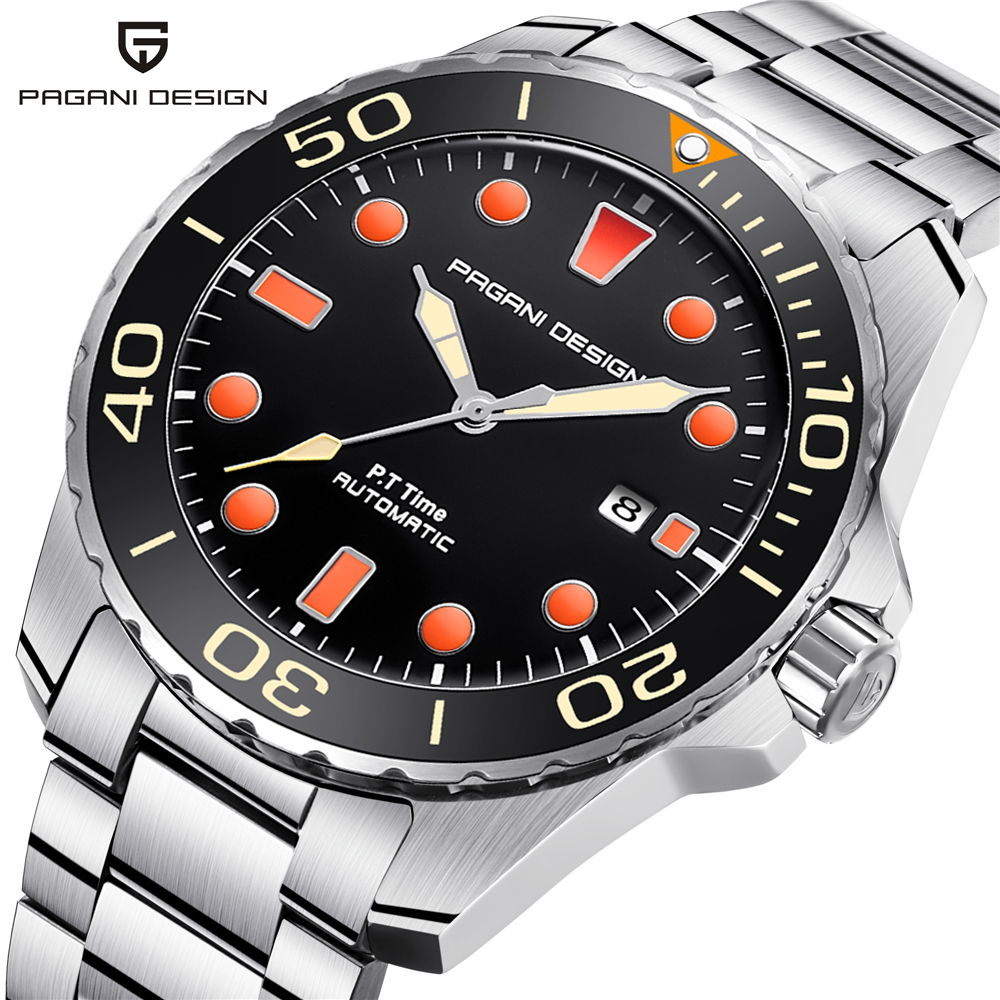 PAGANI DESIGN Brand Men Luxury Watches Automatic Blue Watch Men Stainless Steel Waterproof Business Sport Mechanical Wristwatch