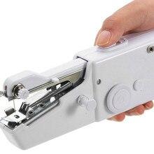 مصغرة المحمولة المحمولة ماكينة خياطة s مفيد غرزة الملابس الأقمشة خياطة تطريز اللاسلكي الكهربائية ماكينة خياطة