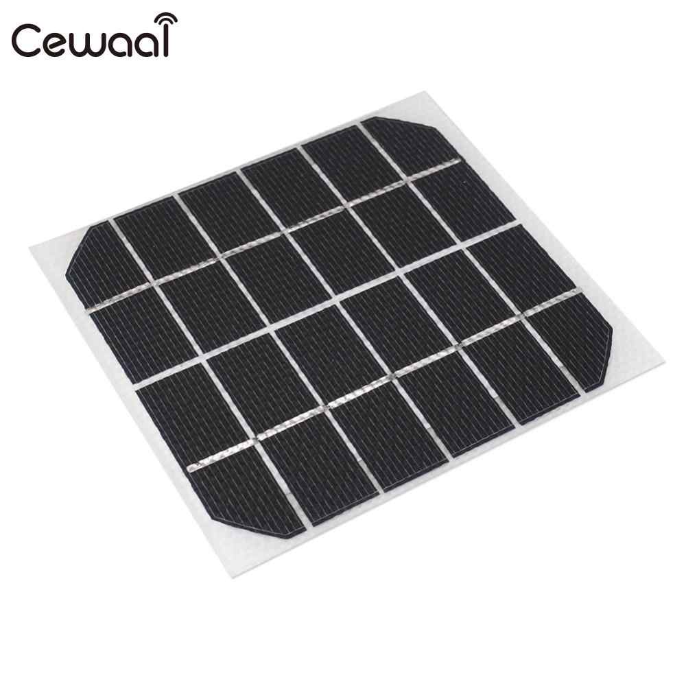 2W 120*110mm Solar Panel  Charging Equipment Mini Solar Energy Part Reusable Environmental Solar Cells