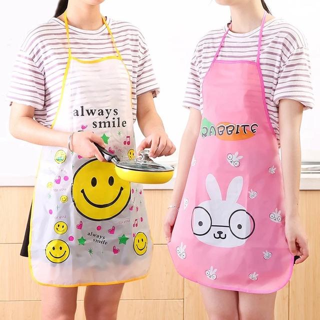 Kitchen Apron Rabbit Printing Kids Aprons BBQ Bib Apron For Women Cooking Baking Restaurant Apron Home Cleaning Tools 50*70cm