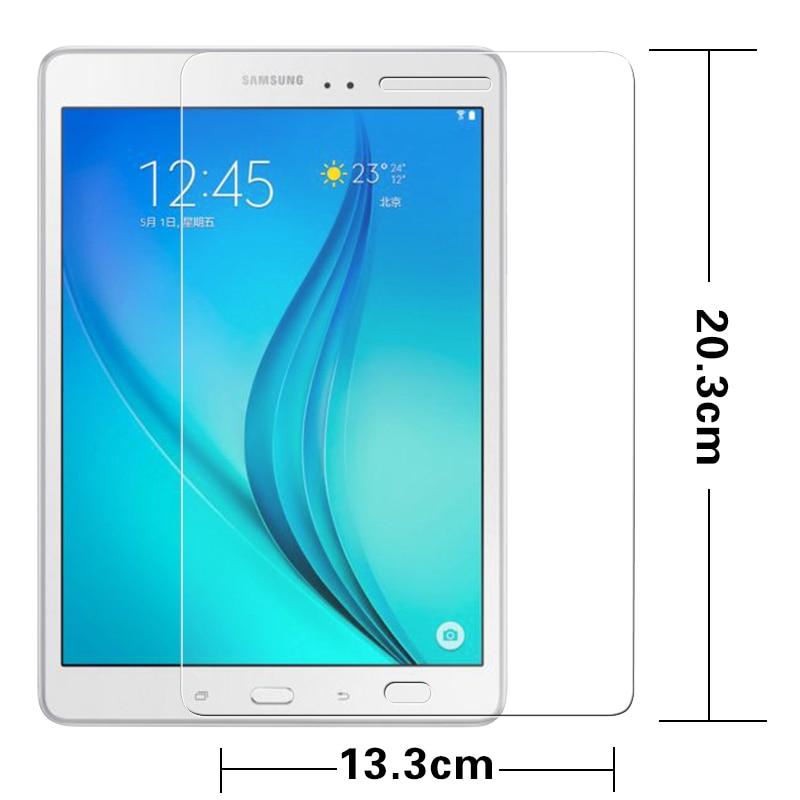 """Premium Anti paramparça Temperli Cam filmi Samsung Galaxy TAB için Bir T350 T351 T355 8.0 """"Tablet Ekran Koruyucu Çizilmeye dayanıklı filmi"""