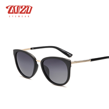 20/20 Polarized sunglasses women Retro Style Metal Frame Sun Glasses Famous Lady Brand Designer Oculos Feminino 7051