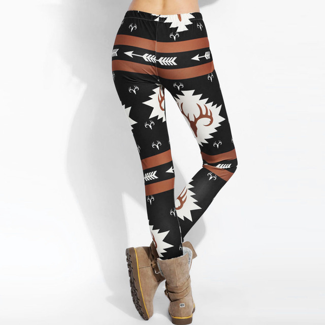 2016 National Style Printing Winter Trend Women Warm Leggings High Elastic Thicken Lady's Leggings Warm Pants Women Skinny Pants
