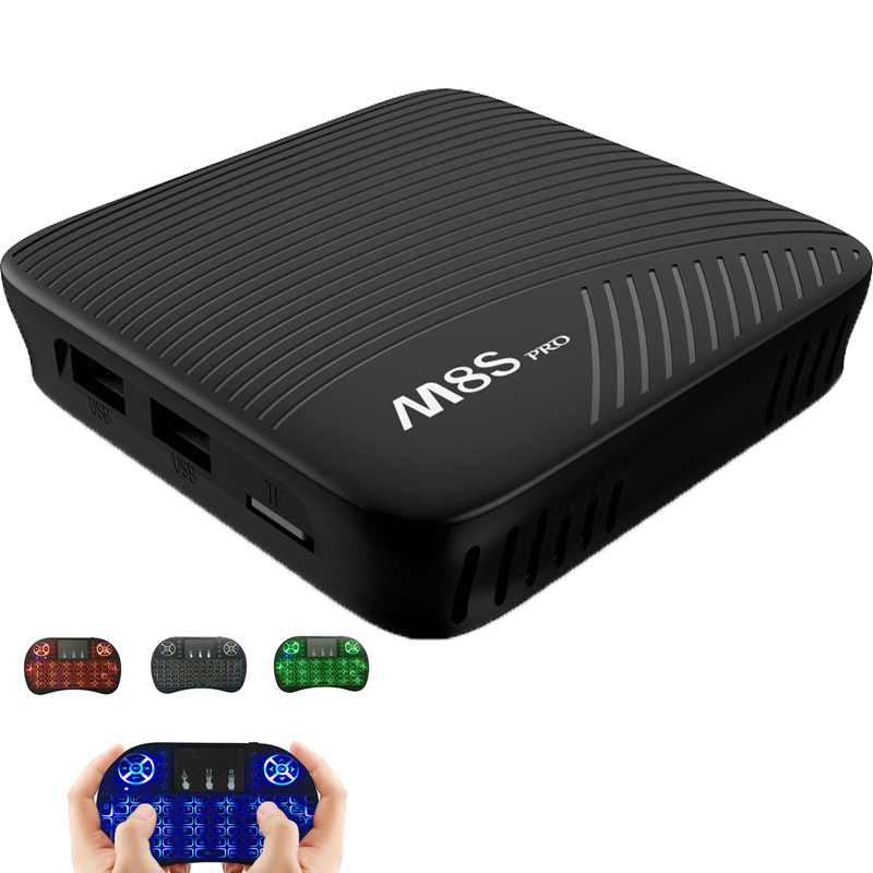 MECOOL M8S PRO Android 7.1 Smart TV Box 3GB DDR4 16GB Amlogic S912 64 bit Octa Core 4K BT 4.1 Set-top Box Media Player Pk x92
