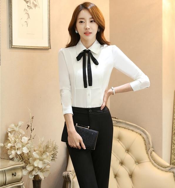 Uniforme Formal de Design Ternos de Trabalho Profissional Com 2 Peça Tops E Calças Para Senhoras Escritório Calças Outfits Define Pantsuits