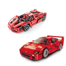 NEW Technic MOC Set Bricks 21004 Ferrarie F1 F40 Enzo Sports Car Model Building Blocks Kits Toys Racers Compatible with 10248(China)