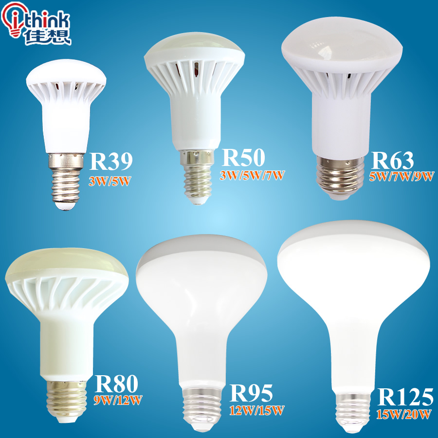 New r39 r50 r63 r80 led light e14 e27 led lamp 3w 5w 7w 9w ac