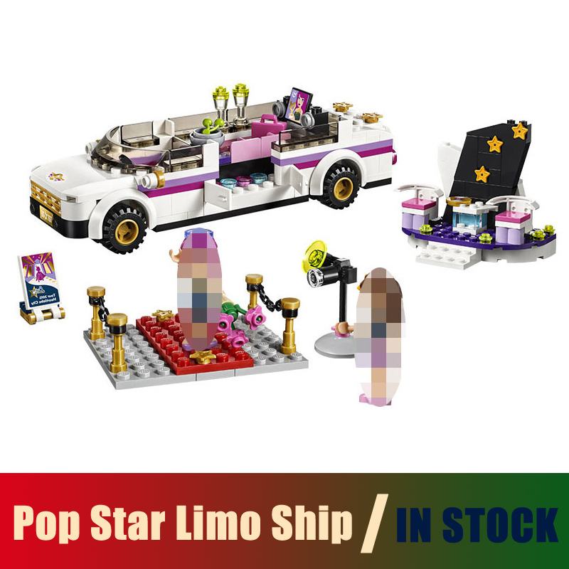 Compatible Lego Friends 41107 Models Building Toy Pop Star Limo Ship