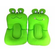 Soft Baby Bath Mat Anti-slip Shower Cushion Cartoon Frog Shape Bathtub Aid Bathing Support Safety For Baby Infant Bath Pad