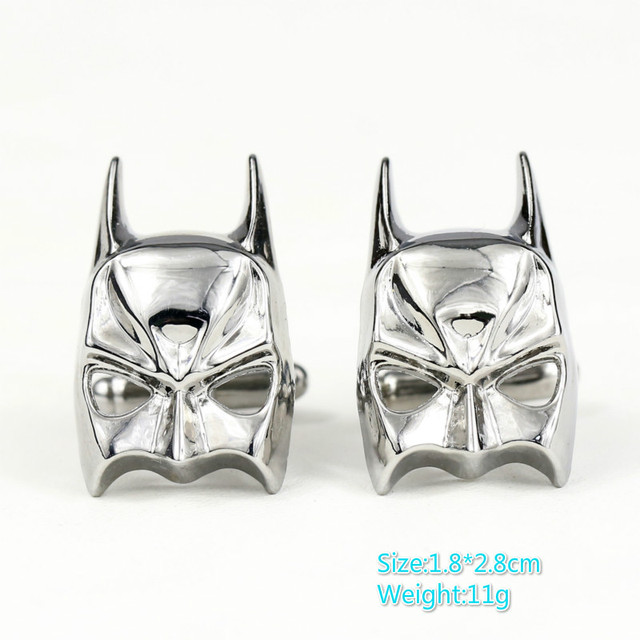 Superhero Batman Mask Cufflinks for Men of Women