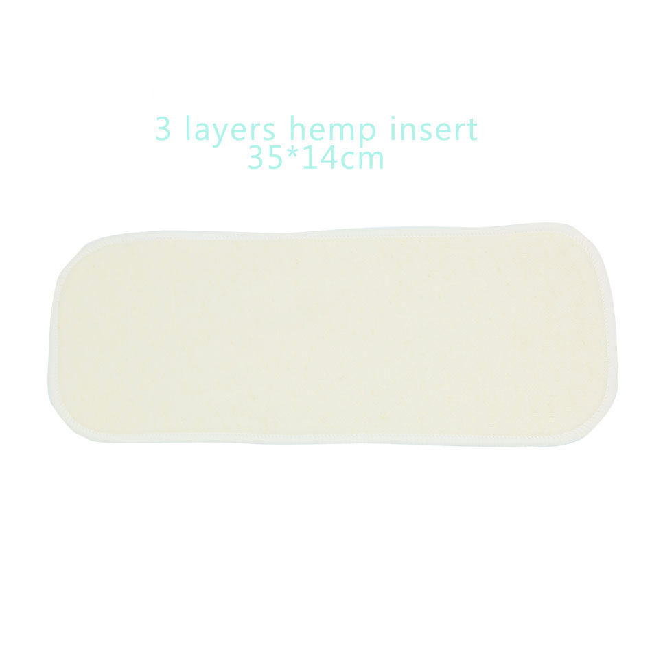 Image 2 - Elinfant 10pcs 3 layers hemp diaper insert reusable supre soft baby nappy insert 35x14cm for cloth diaper&covers-in Baby Nappies from Mother & Kids