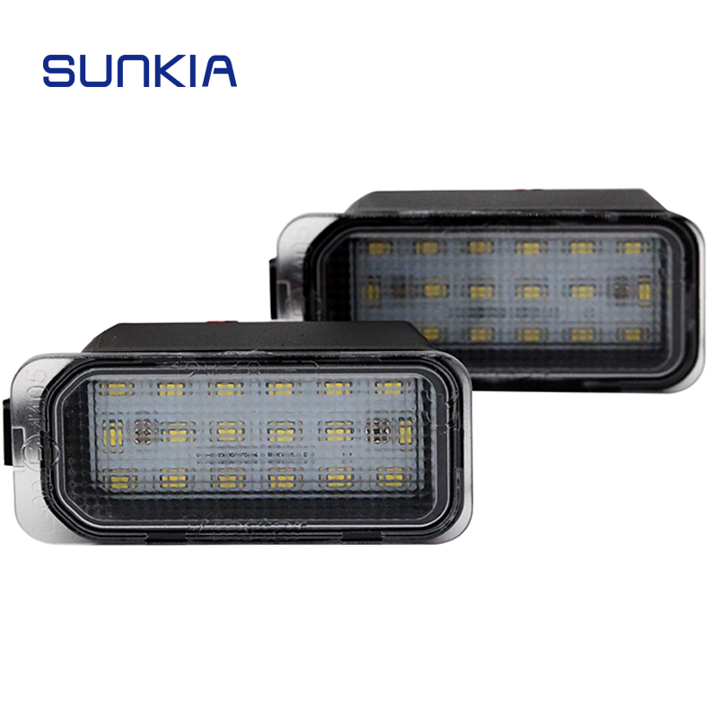 2pcs lot 12V Car LED Number License Plate Light 18 SMD Super White font b Lamp