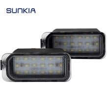 2 pz/lotto 12 v Auto LED Targa Numero di licenza Luce 18 SMD Super White Lampada per Ford Fiesta/di Messa A Fuoco DA3 5D/Kuga/Galaxy WA6 con canbus