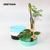 Japanese Ikebana Plastic Tabletop Flower Pot Flower Arrangement Practice Flowerpot Water Basin Fruit Tray Hydroponic Planters