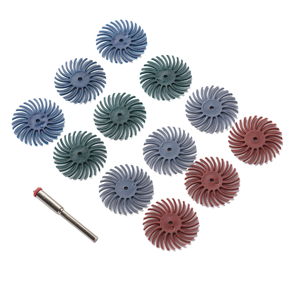 Bristle Abrasive Brush Polishing Buffing Wheel Mixed Grit Rotary Accessory Tool