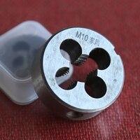 O envio gratuito de pc HSS6542 1 feito máquina die M10 * 1.0/1.25/1.5mm para ser usado para a usinagem de peças de metal fio de ferro em aço