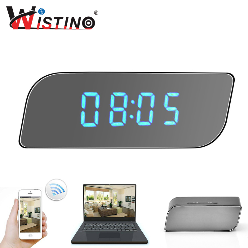 Wistino CCTV 1080P WIFI Mini Camera Time Wireless Nanny Clock P2P Security Night Vision Motion Detection