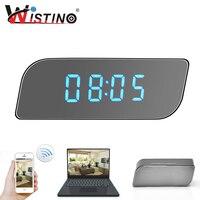 Wistino CCTV 1080P WIFI Mini Camera Time Wireless Nanny Clock P2P Security Night Vision Motion Detection
