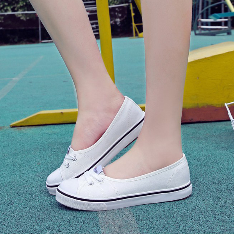 Fashion Women Flats Slip-on Solid Breathable Loafers 2018 Women Canvas Shoes Summer Casual Sneakers Ladies Flats Shoes KBT999 hzxinlive 2018 flat shoes women breathable flats shoes for women ladies casual platform female fashion summer sneakers footwear
