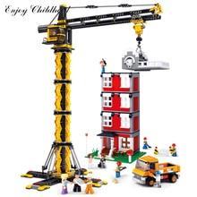 Sluban B0555 1461pcs Tower Crane Building Block Bricks Kits Classic Educational Kids Toys