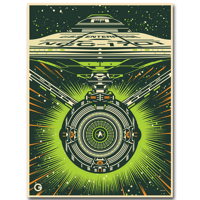 Star Trek 3 Beyond Art Silk Fabric Poster Print 13×18 24×32 inch 2016 New Movie USS Enterprise Picture for Room Wall Decor 001