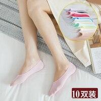 Японские Женские танцевальные носки; 10 пар/лот; Летние Гольфы с усиленным носком; зимние носки-тапочки; нескользящие носки