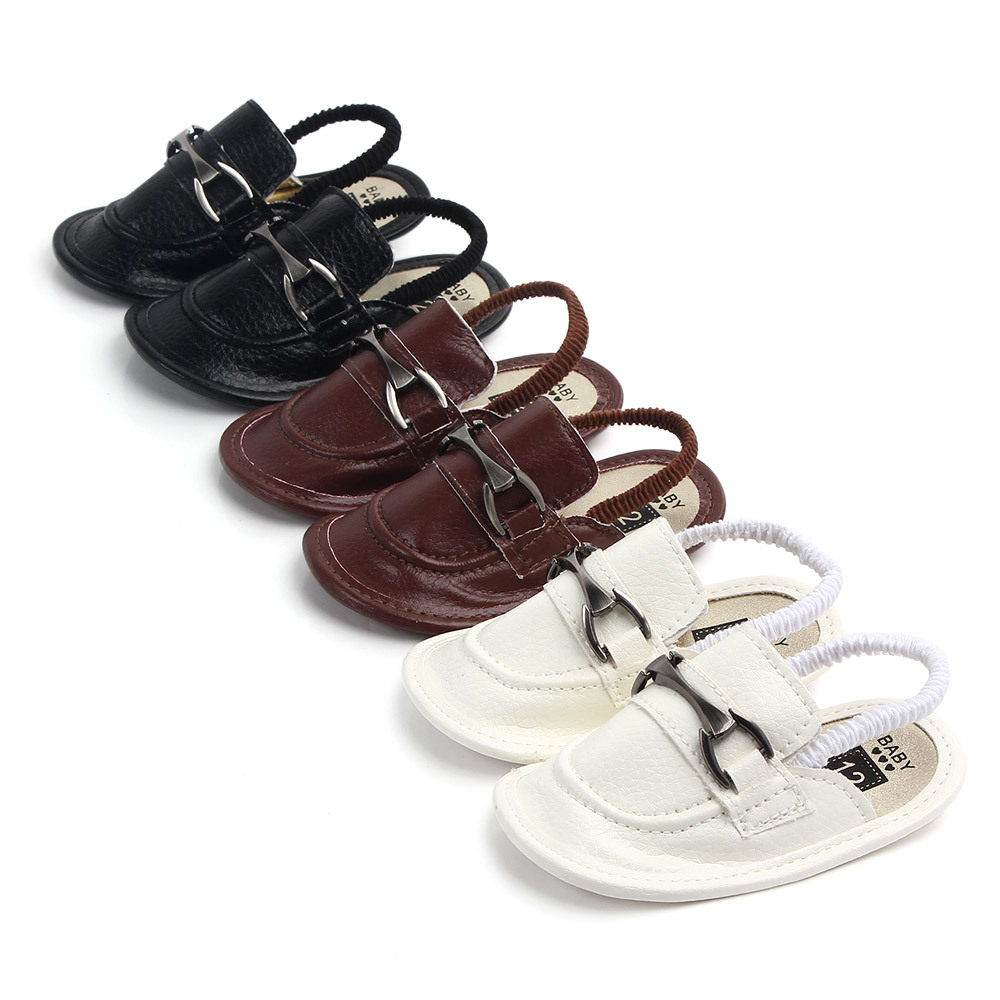 Fashion PU Leather Baby Shoes Summer Cute Infant Slippers Soft Bottom Baby Boys Girls Shoes Anti-Slip Indoor Shoes For Newborns