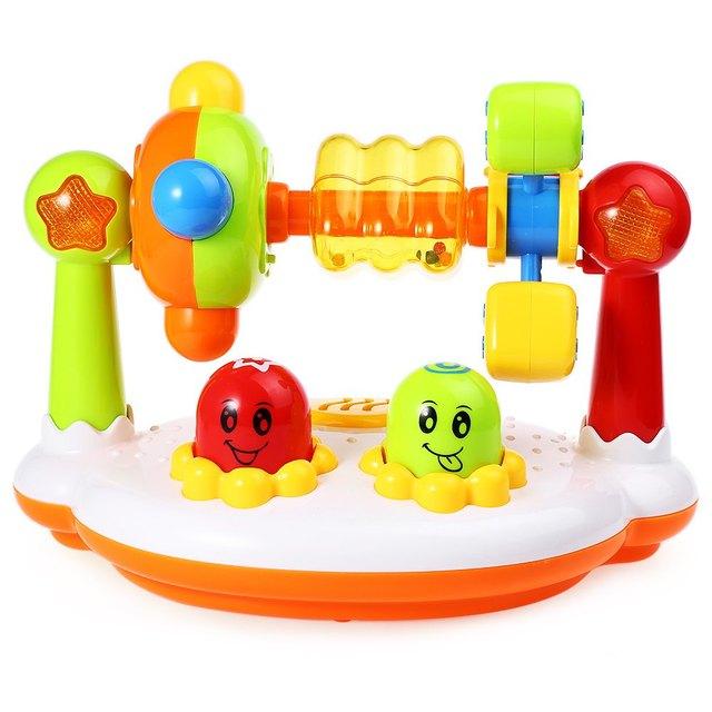 Venda QUENTE Do Bebê Musical Girando Moinho de vento de Brinquedo Iluminação Brinquedo Encantador Excelente Início de Plástico Presente Educacional Para Crianças dos miúdos
