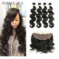 Grade 8A 13x4 Lace Frontal With Bundles Brazilian Bodywave With Closure 4 Bundles And Closure Amazing Hair Company Frontal