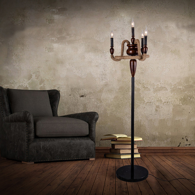 mfg inc with coast rope iron curls pedestal lamp floor shop on bargains and