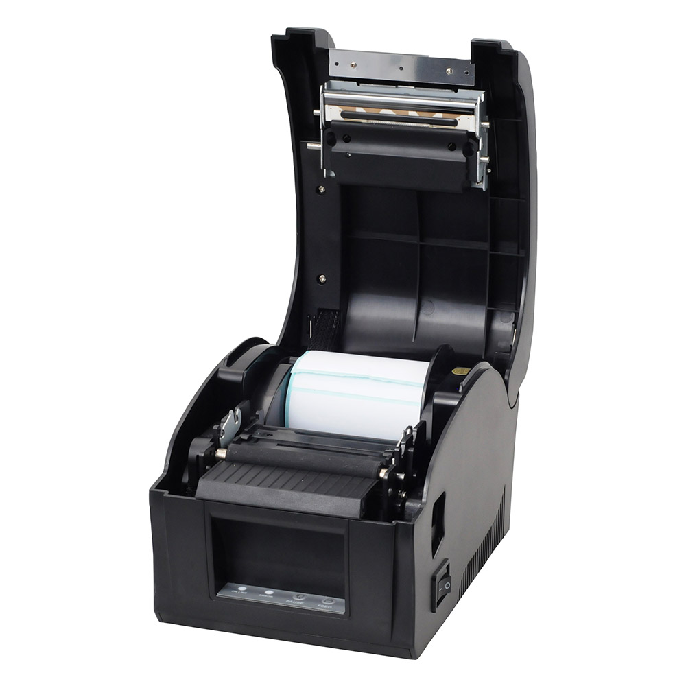 20mm-82mm porta USB termica stampante di etichette di Codici A Barre stampante per il Vestito tag dei monili latte negozio di tè