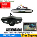 night vision CCD Color Car Rear View Camera for Honda Accord Pilot Civic Odyssey Acura TSX,with 4.3Inch Rear view Mirror Monitor