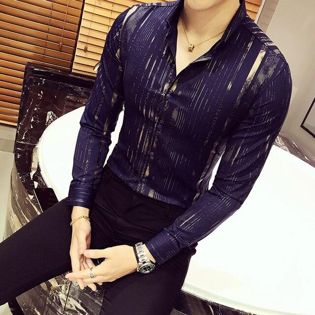 גברים חולצה בסגנון בריטי עסקי ארוך שרוול זכר Slim Fit מקרית חולצות גברים של בגדים לבן שחור אדום גברים חולצות בגדים