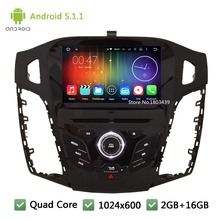 Quad Core DAB+ FM BT WIFI Android 5.1.1 1Din 8″ 1024*600 Car DVD Player Radio PC Audio Stereo Screen For Ford Focus 3 2011-2014