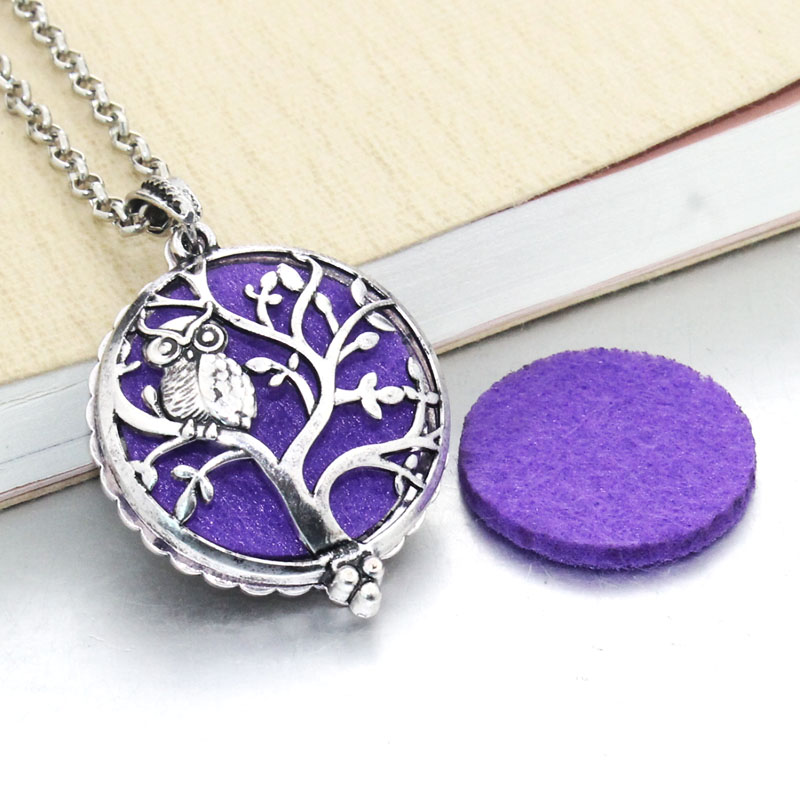 1 шт. аромадиффузор ожерелье Открытый Античный винтажный медальон кулон парфюм эфирное масло ароматерапия медальон ожерелье с подушечками - Окраска металла: 031213