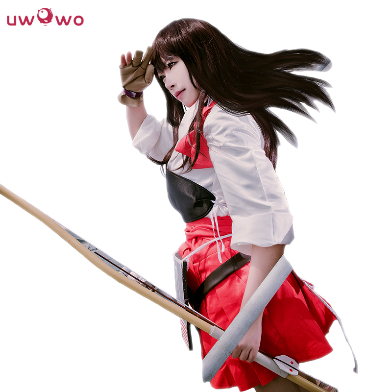 UWOWO Akagi Cosplay Kantai Collection KanColle White Shooter Suit Uwowo Costume Women