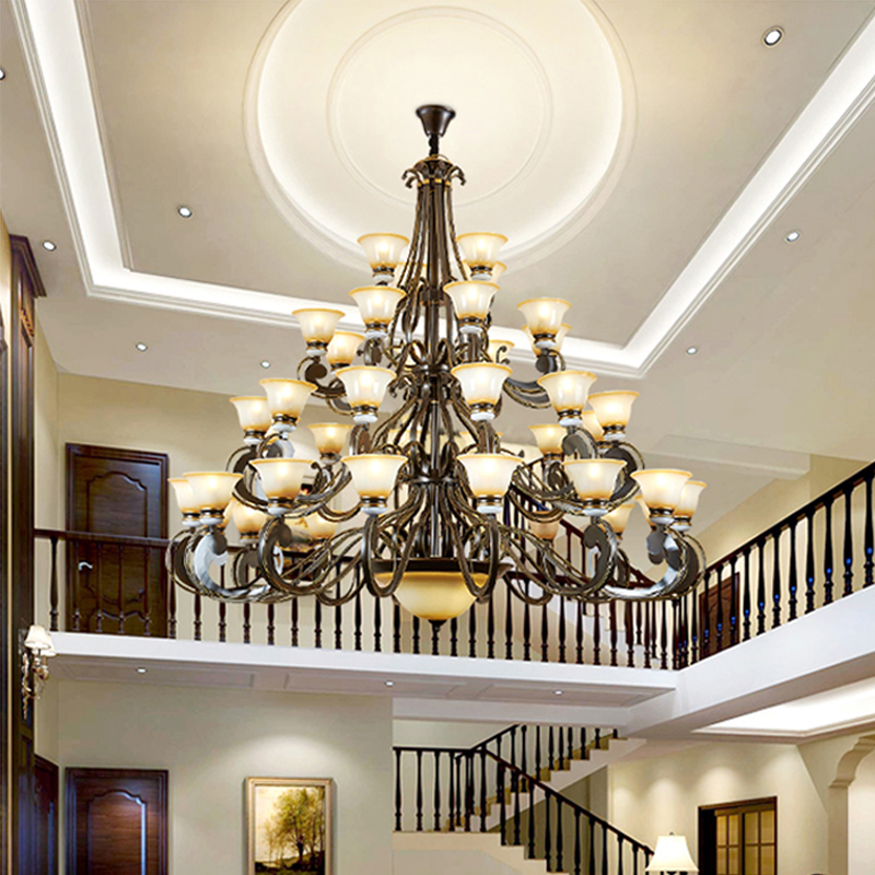 Hotel Compound Building Large Chandelier American Style