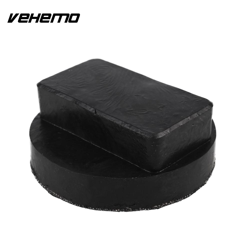 Vehemo Automobile Floor Jack Stand Jack Pad Black Rubber Premium Jacking Point Pad Frame Rail Durable